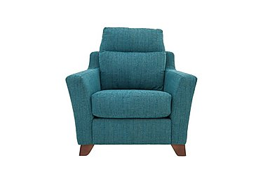 The Coastal Collection Hastings Fabric Recliner Armchair in Ripple Teal Dark Feet on Furniture Village