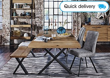 buy popular c63d5 efdf3 Earth Large Dining Table, 2 Dining Chairs and Large Dining Bench