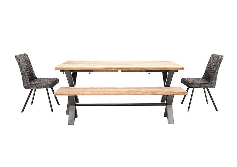 Peachy Earth Large Dining Table 2 Dining Chairs And Large Dining Bench Interior Design Ideas Gentotryabchikinfo