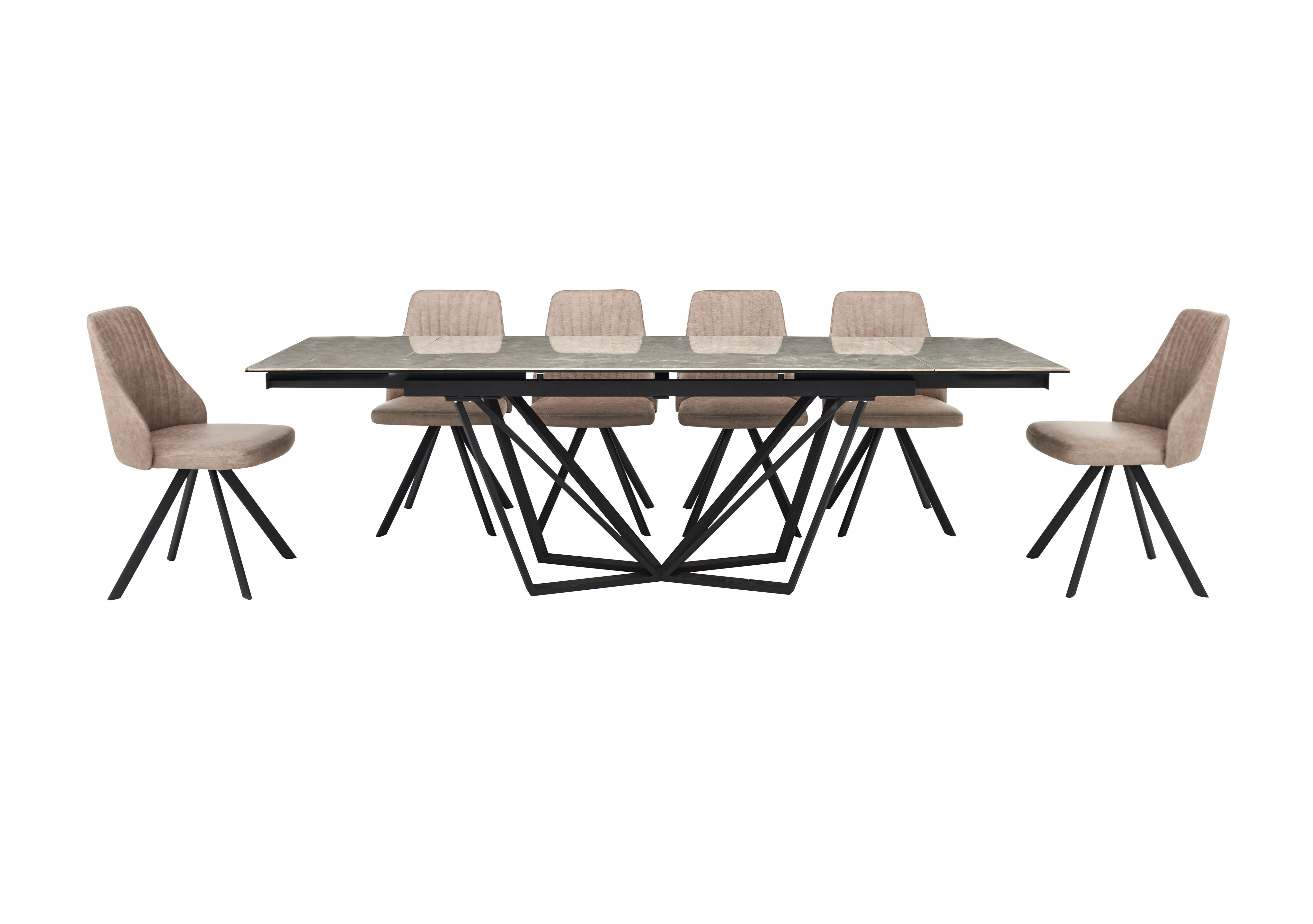 Picture of: Aquila Extending Dining Table And 6 Swivel Dining Chairs Furniture Village