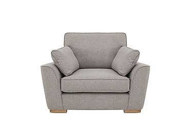 Uptown Collection Lambeth Fabric Snuggler Armchair in Kendal Storm Col 7 Hoxton on Furniture Village