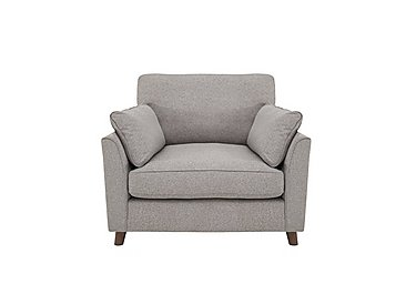 Uptown Collection Southwark Fabric Snuggler Armchair in Kendal Storm Col 3 Dark on Furniture Village