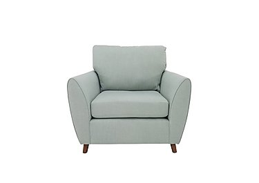 Uptown Collection Primrose Fabric Armchair in Lottie Aqua Col 3 Dark on Furniture Village
