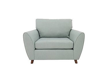 Uptown Collection Primrose Fabric Snuggler Armchair in Lottie Aqua Col 3 Dark on Furniture Village