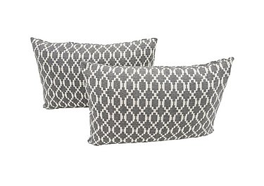Connection Pair of Fabric Bolster Cushions in Finchley Grey on Furniture Village