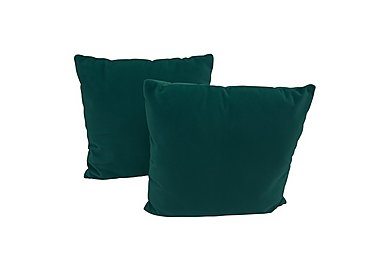 Connection Pair of Fabric Scatter Cushions in Soho Teal on Furniture Village