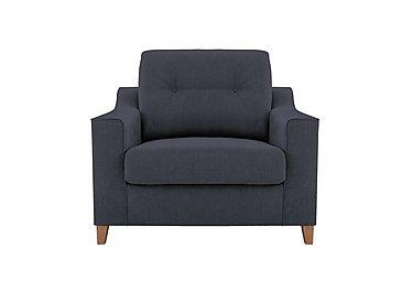 Sigrid Fabric Snuggler Armchair in Lottie Denim Col2 Light on Furniture Village