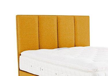 Hampden Floorstanding Headboard in Tweed 400 Mustard on Furniture Village