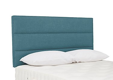 Kimble Strutted Headboard in Imperio 602 Turquoise on Furniture Village