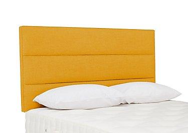 Kimble Strutted Headboard in Tweed 400 Mustard on Furniture Village