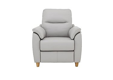 Spencer Leather Recliner Armchair in H006 Oxford Light Grey on Furniture Village