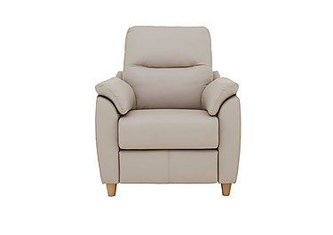 Spencer Leather Recliner Armchair in P219 Capri Putty on Furniture Village