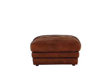 Mellow Leather Loafer Footstool in Imperial Caramel on Furniture Village