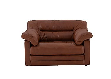 Mellow Classic Back Leather Snuggle Chair in Imperial Caramel on Furniture Village