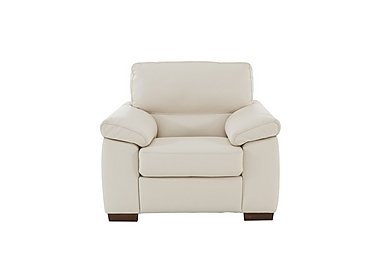 Rome Leather Armchair in Denver 10bl White on Furniture Village
