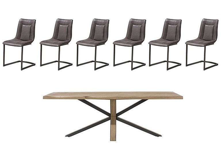 Detroit Starburst Leg Table And 6 Panay Chairs