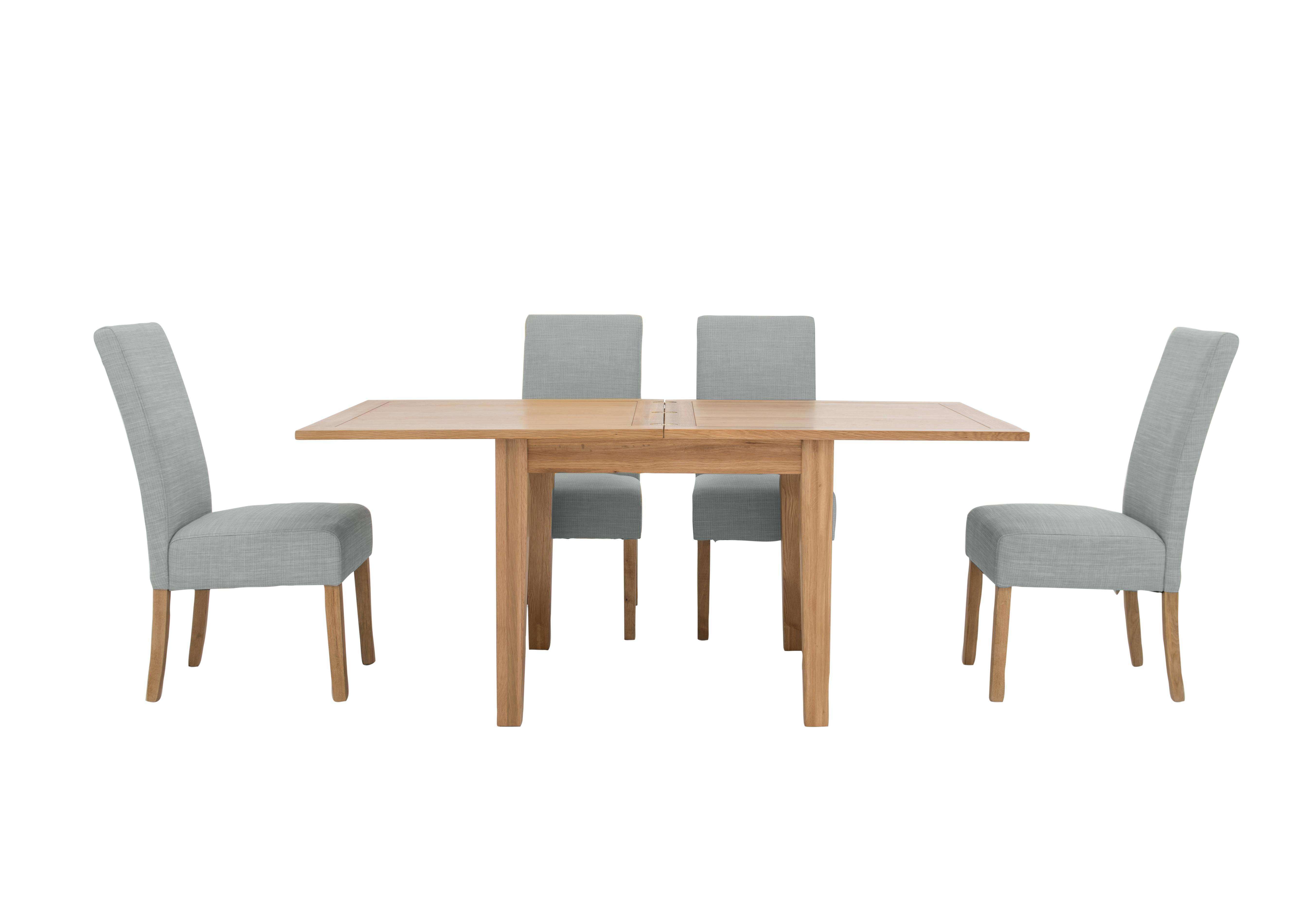 Picture of: California Extending Flip Top Table And 4 Fabric Chairs Furnitureland Furniture Village
