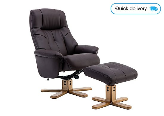 Superb Muscat Swivel Recliner Chair With Footstool Dabxah Pabps2019 Wood Chair Design Ideas Dabxahpabps2019Com