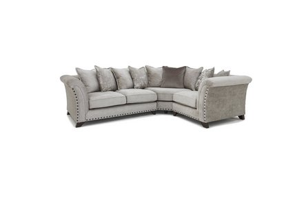 Swell Holly Small Pillow Back Fabric Corner Sofa With Studs Home Interior And Landscaping Pimpapssignezvosmurscom