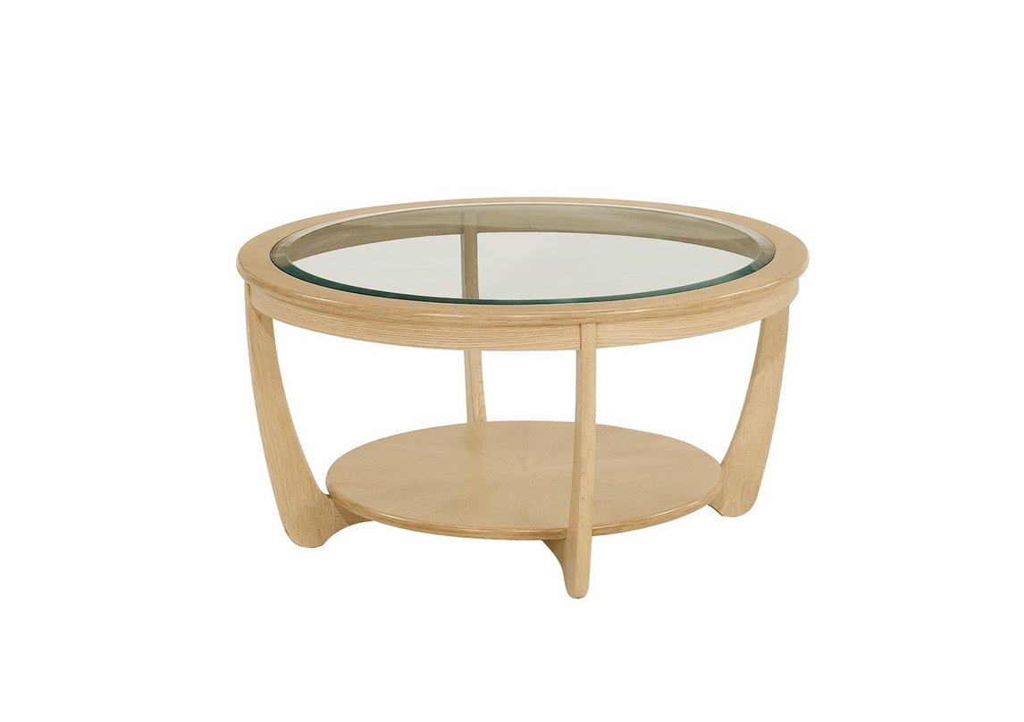 Shades Glass Top Round Coffee Table Nathan Furniture Village