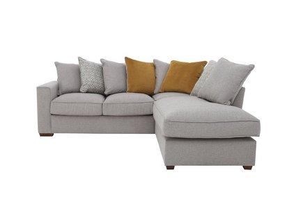 Comfi Fabric Pillow Back Corner Chaise End Sofa Bed - Furniture Village