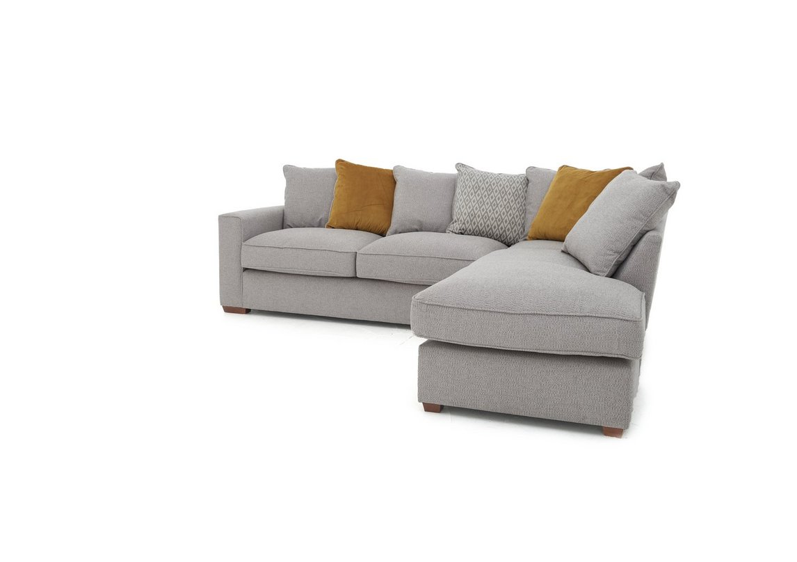 Comfi Fabric Pillow Back Chaise End Corner Sofa Furniture Village
