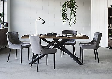 Dining Room Sets.Sapporo Table And 4 Velvet Chairs Dining Set