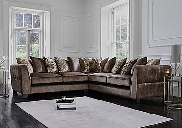 Ariana Large Pillow Back Fabric Corner Sofa