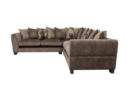 Ariana Large Fabric Pillow Back Corner Sofa