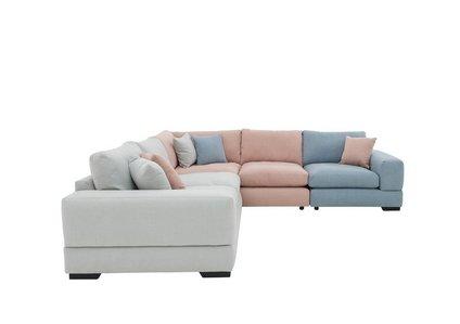 designer fashion 78d61 e0af3 Pearl Cove Fabric Corner Sofa