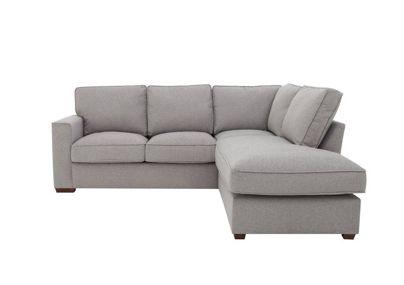 Comfi Fabric Classic Back Corner Sofa with Chaise End Sofa Bed