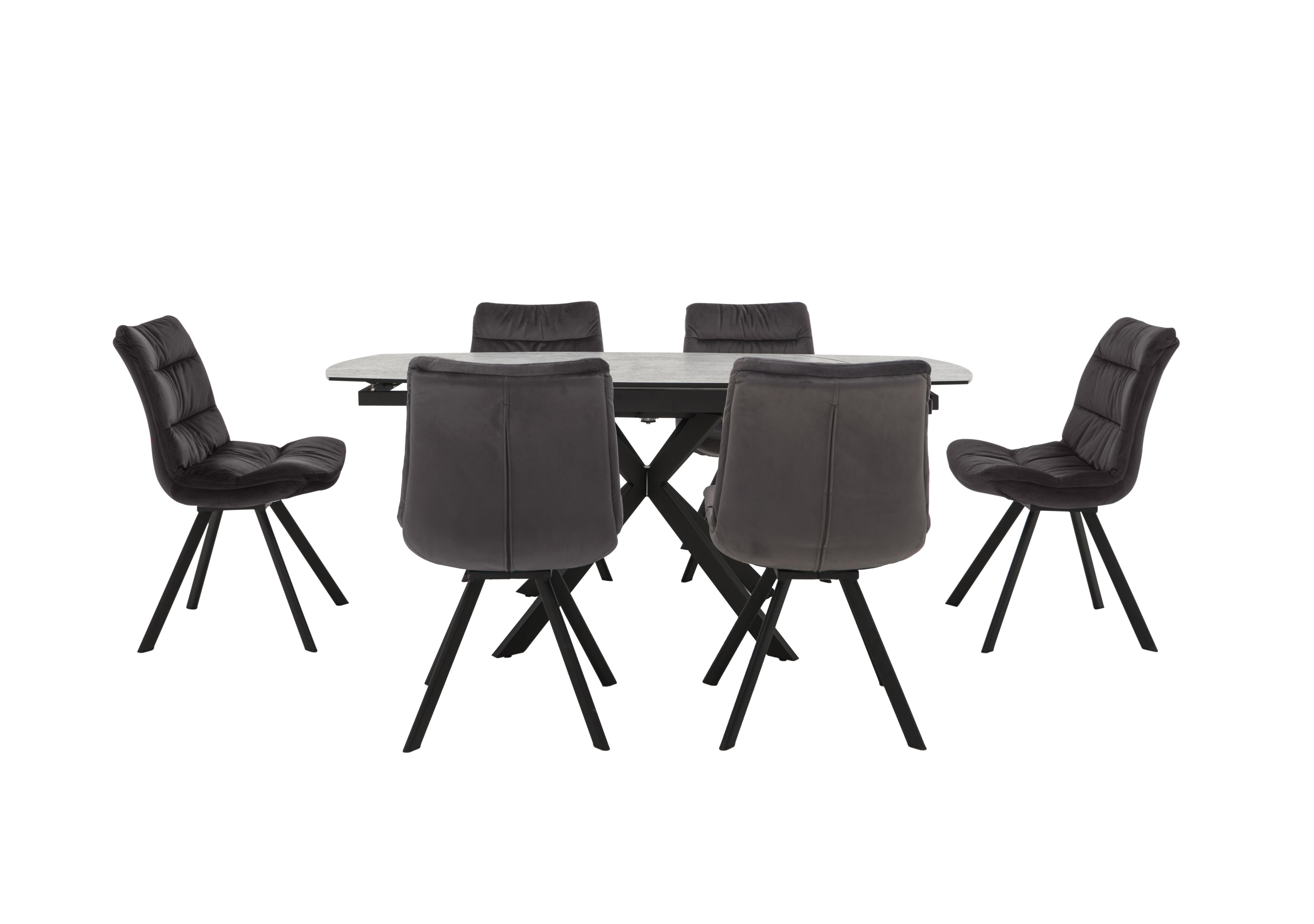 Diego Round Extending Dining Table And 6 Chairs Furniture Village