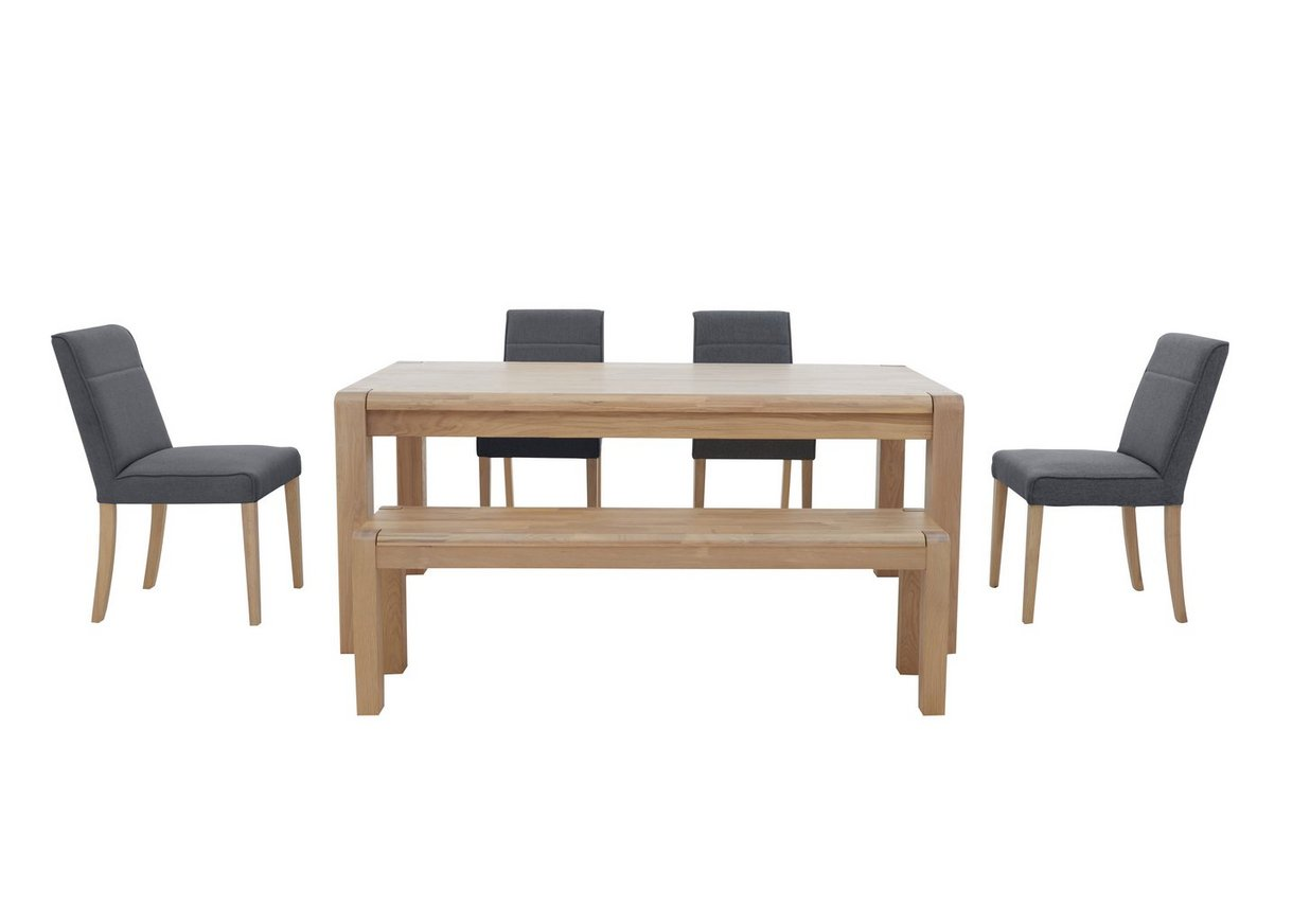 Hammersmith Large Dining Table 4 Dining Chairs And Large Dining Bench Set Furniture Village