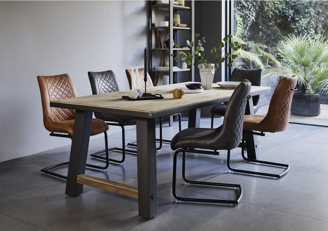 Baltimore Dining Table and 9 Dining Chairs Set   Furniture Village