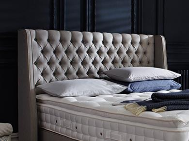 King Size Bed Upholstered Headboard