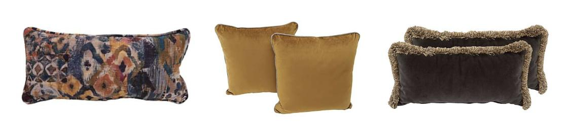 A selection of cushions in all colours