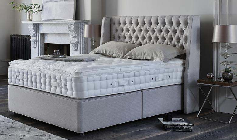 Neutral bedroom ideas – Hypnos divan bed
