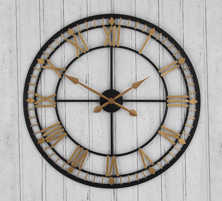 daylight savings_antique metal wall clock