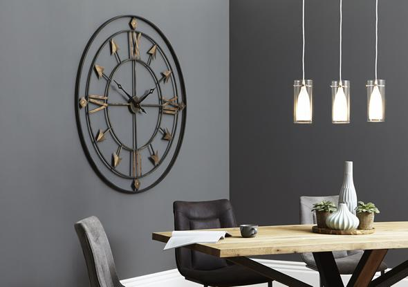 Grey Room with Clock