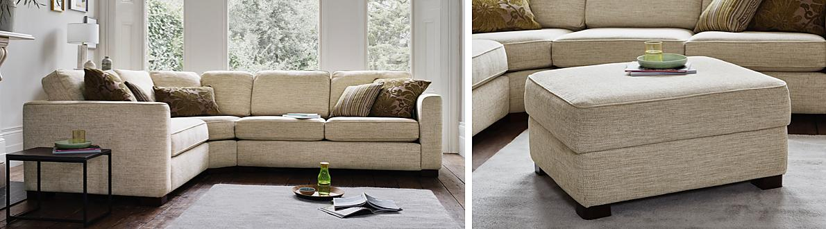 Upholstered In Soft Contemporary Fabric The Generous Proportions Are  Sumptuously Padded For Ultimate Comfort And Support
