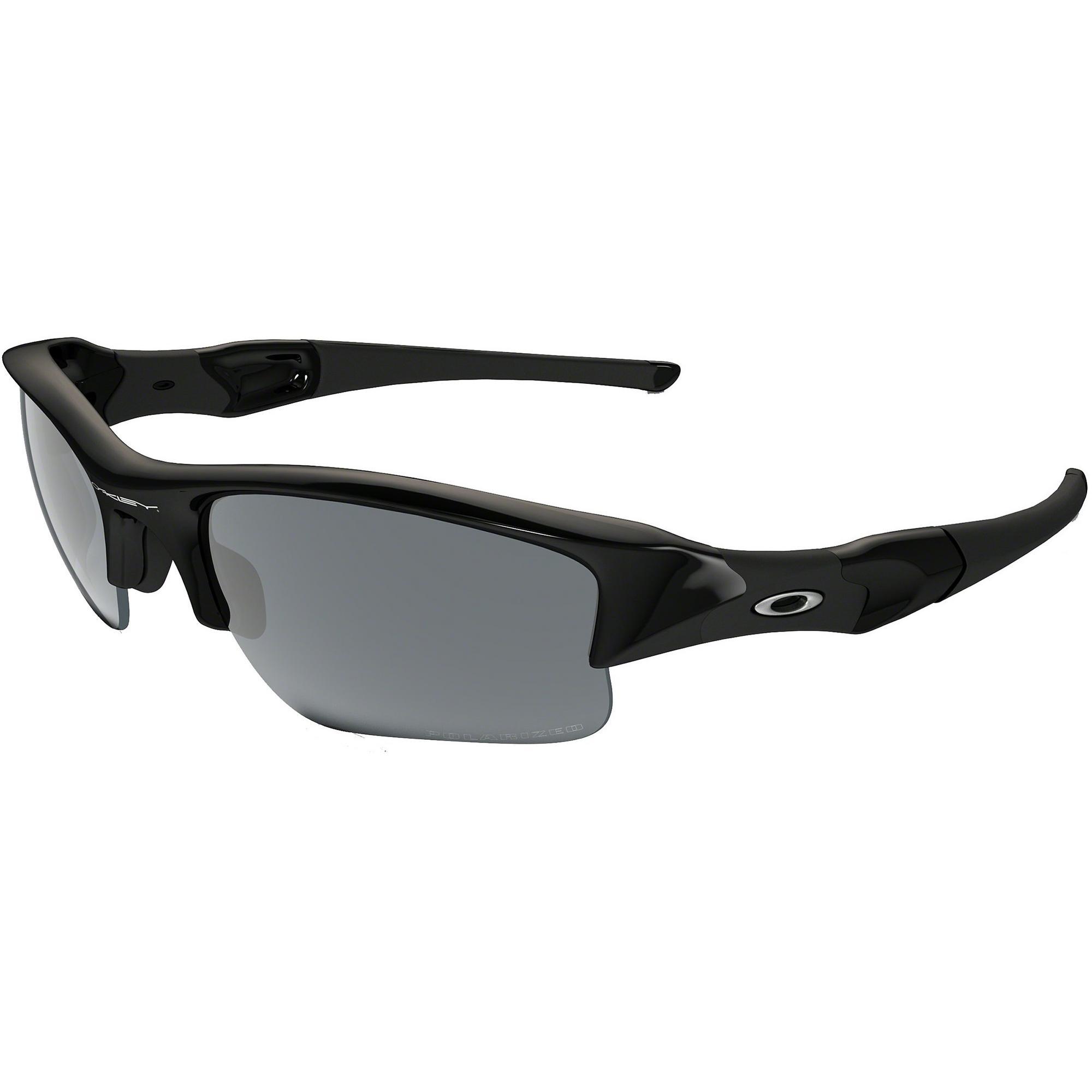 Flak Jacket XLJ Jet Black Iridium Polarized Sunglasses