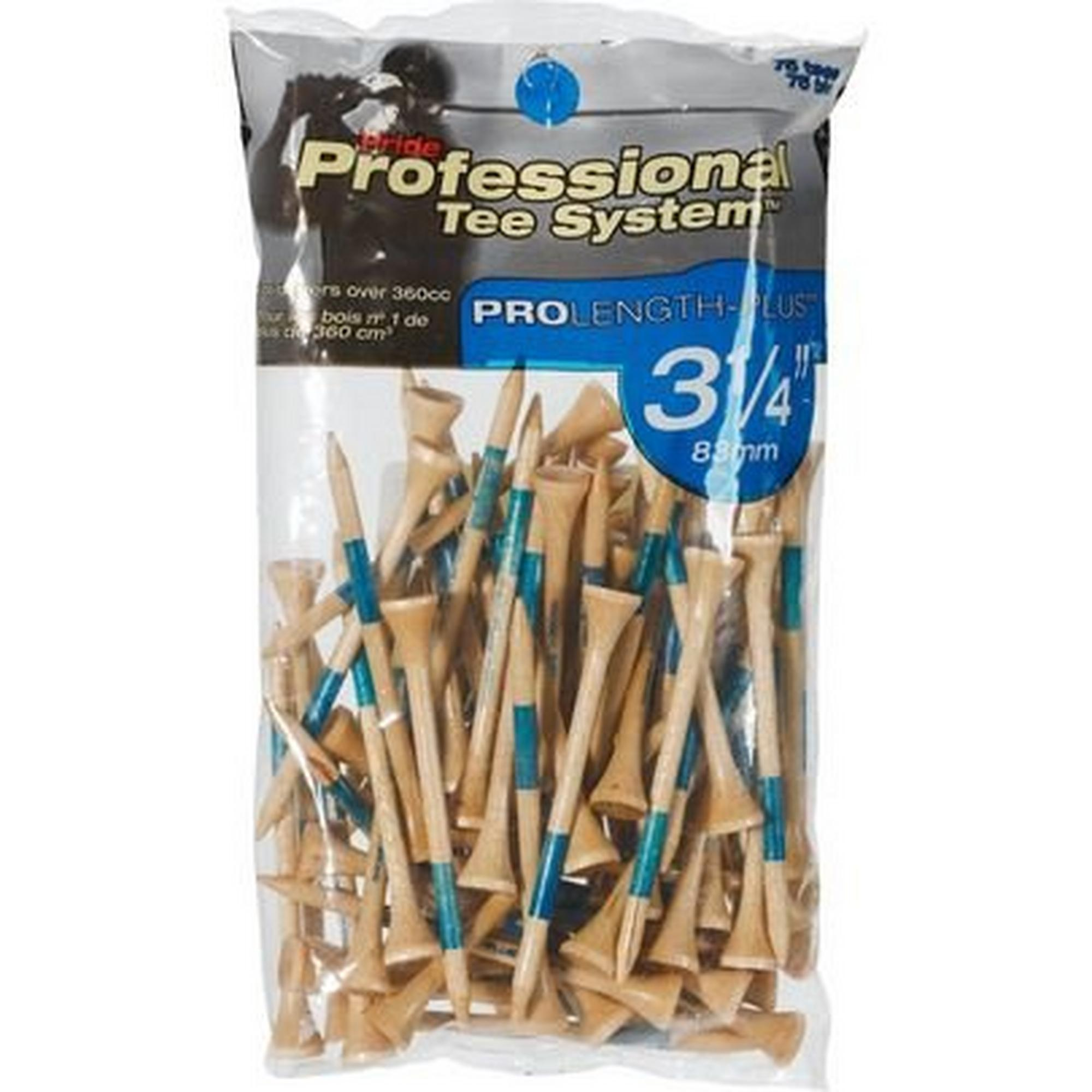 Prolength Plus 3 1/4 Inch Natural Golf Tees (75 Count)
