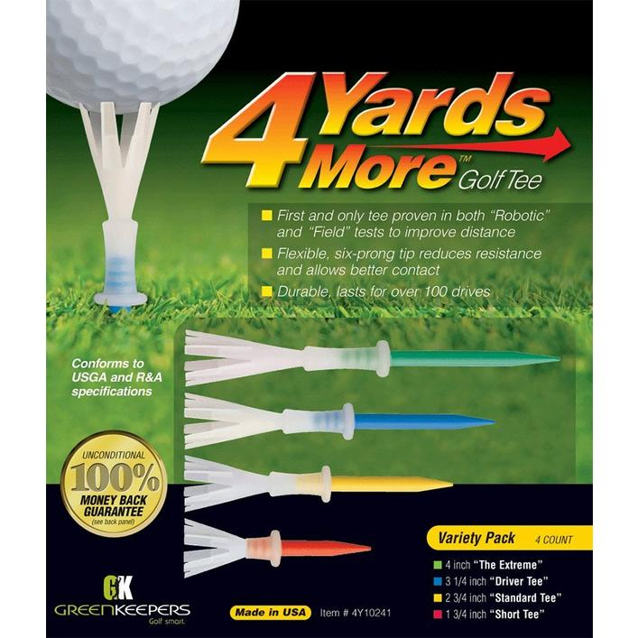 4 Yards More Golf Tees Variety Pack