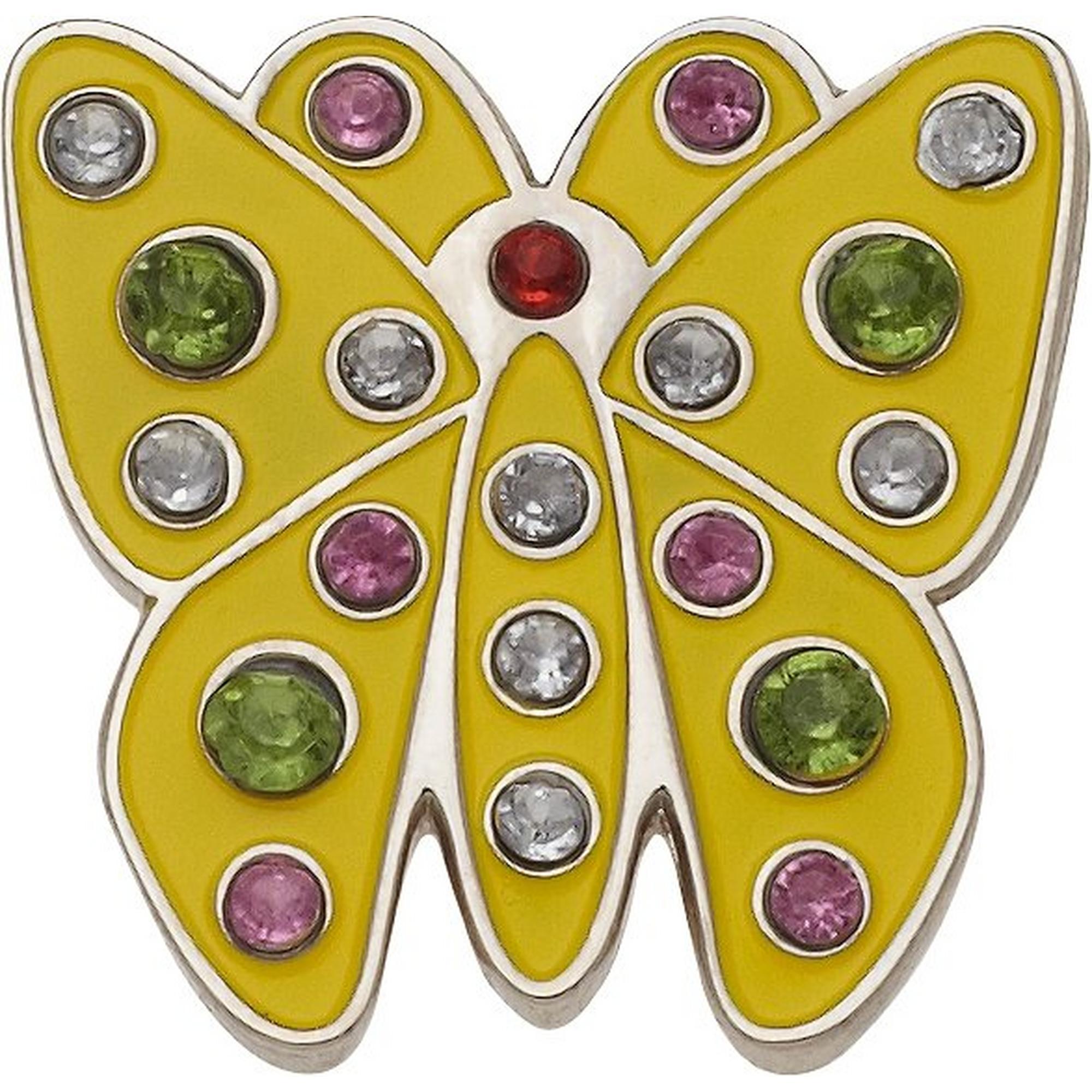marqueur de balles Papillon Jaune en Cristal