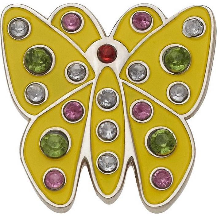 Yellow Butterfly Crystal Ball Marker