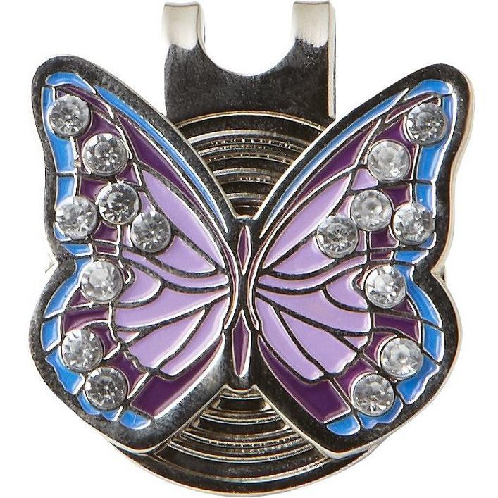 marqueur de balles Papillon Violet en Cristal