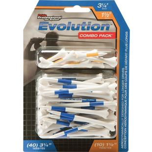 Evolution Combo Pack (40 count 3 1/4IN) and (10 count 1 1/2IN) Golf Tees
