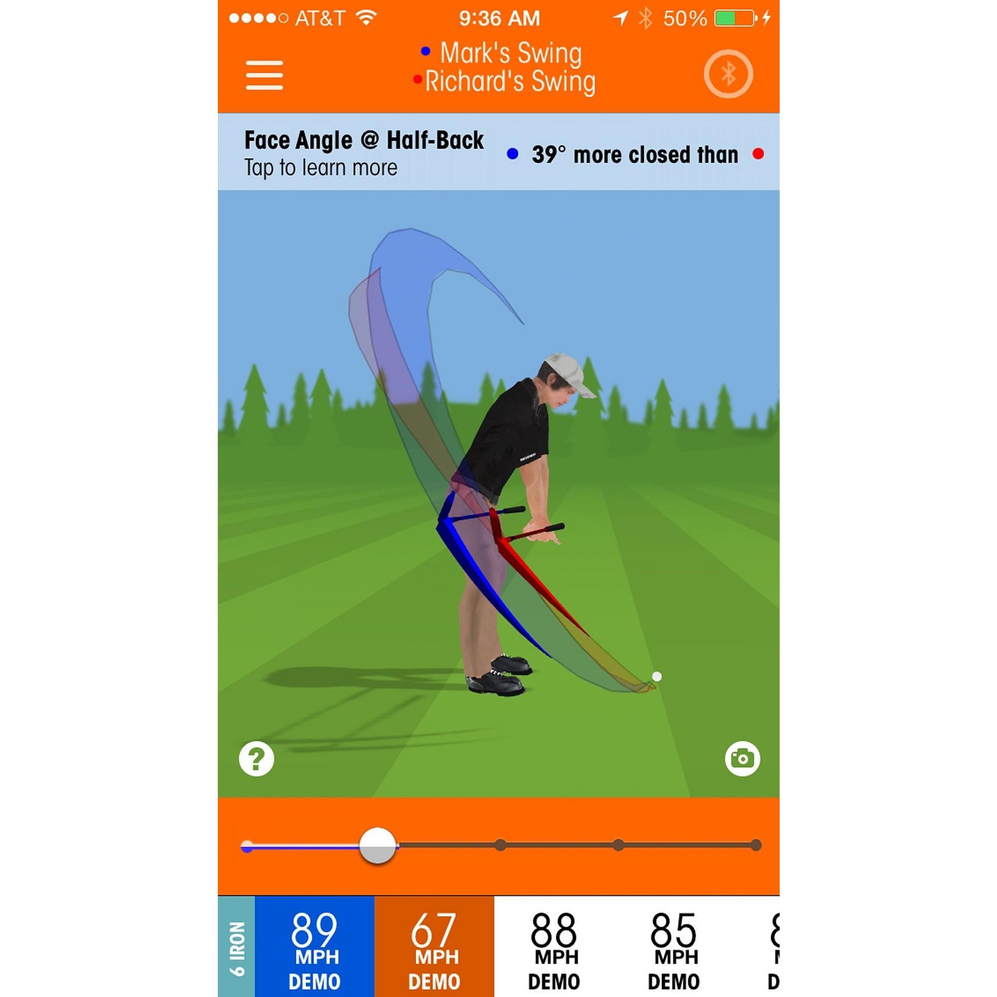 Analyseur d'élan de golf