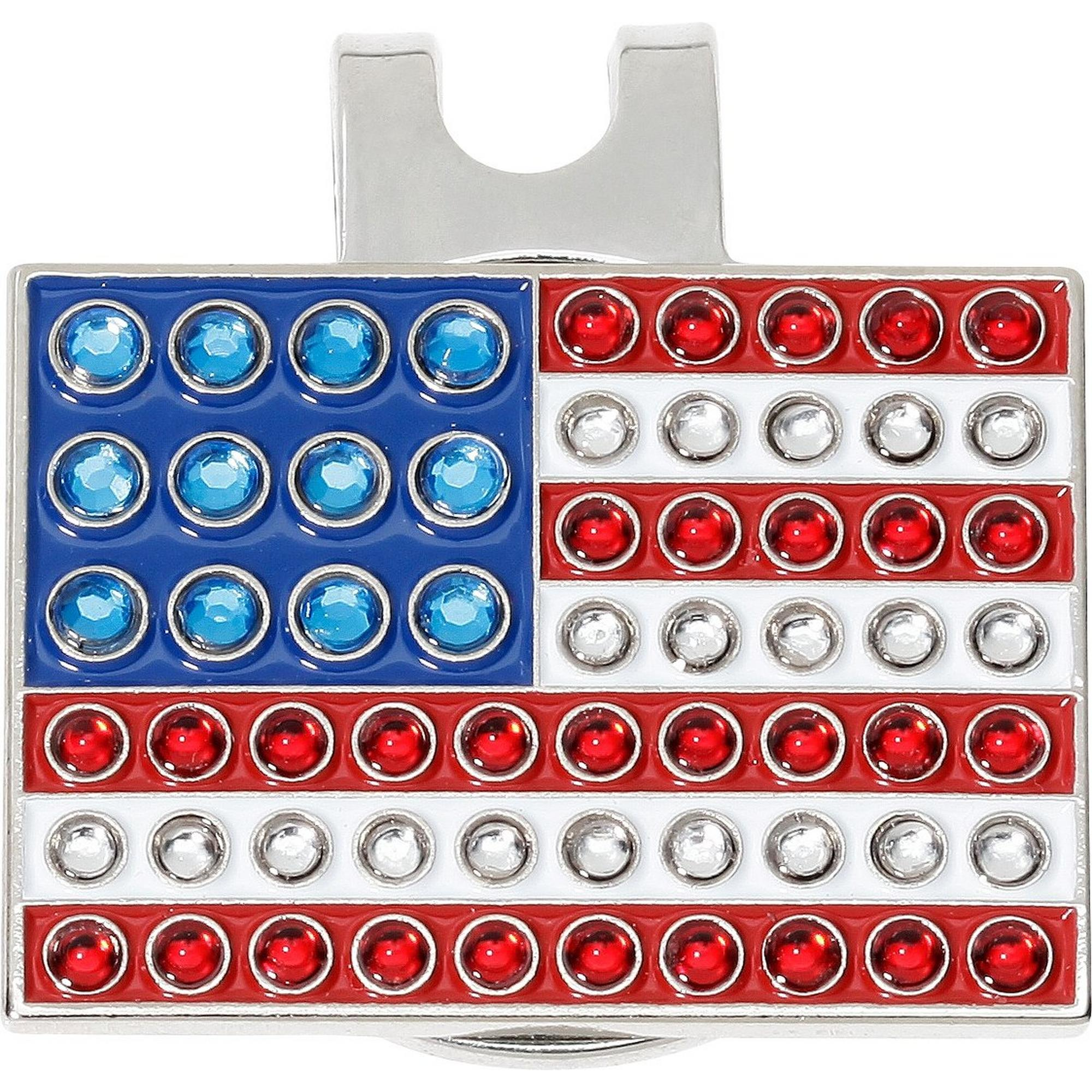 USA Flag Ball Marker with Cap Clip