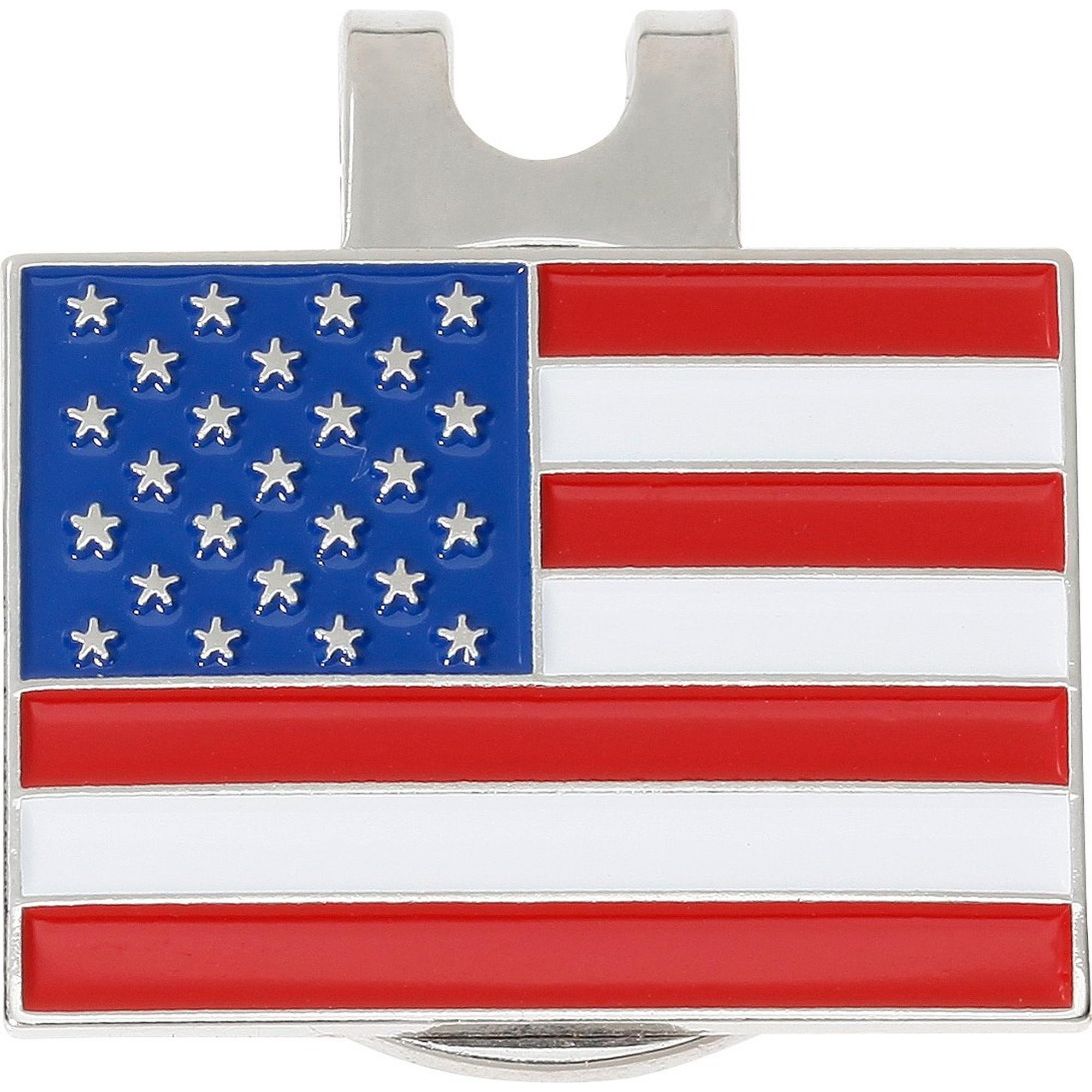 Marqueur de balle avec drapeau des États-Unis et attache pour casquette